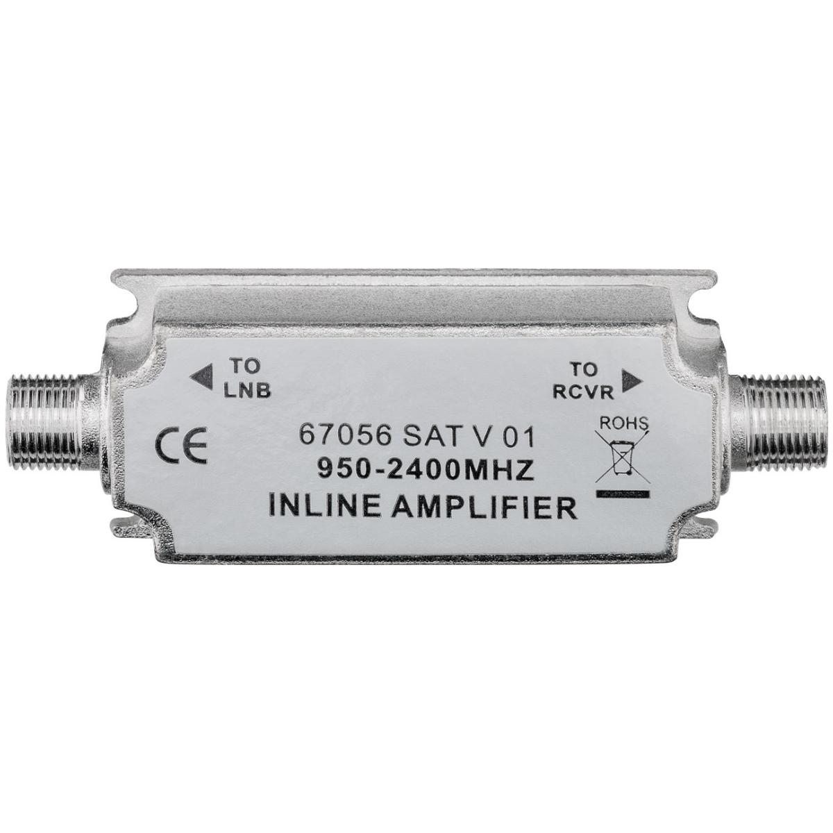 IN-LINE ANTENNE VERSTERKER Uitgang: F-Connector Female