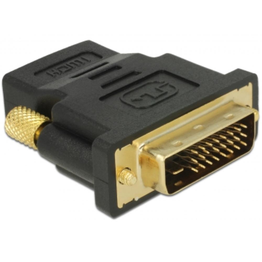 HDMI Female - DVI-D Male Verguld: Ja
