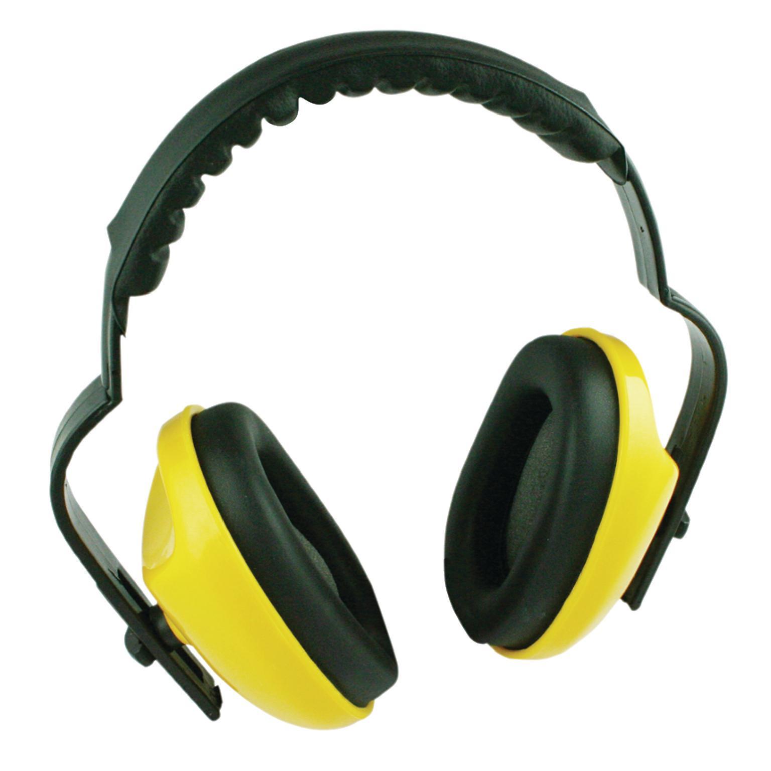 GEHOORBESCHERMERS Met verstelbare hoofdband, voorkom lawaaidoofheid met deze standaard opvouwbare gehoorbeschermers. 23 dB