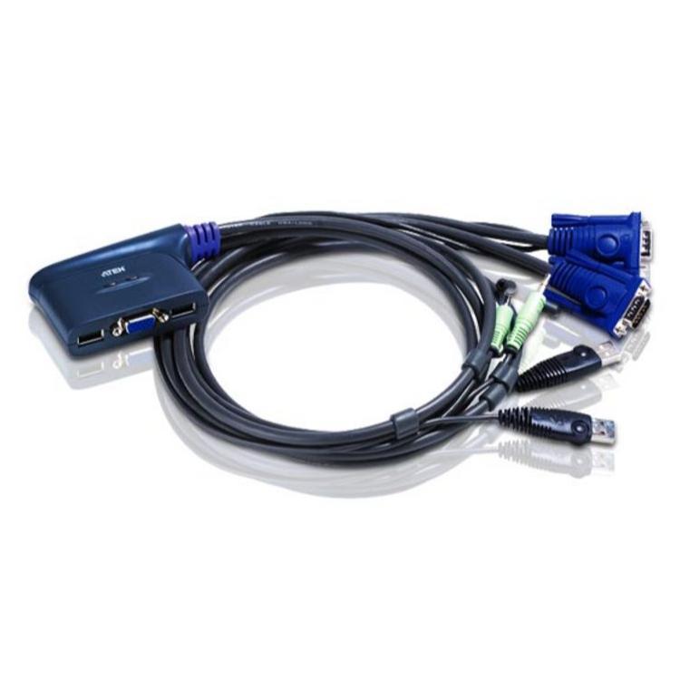 Image of 2-Poorts USB VGA KVM Schakelaar Met Audio - Aten - Aten