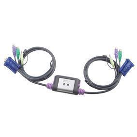 Image of 2-Poorts PS/2 VGA KVM Schakelaar Met Audio - Aten - Aten