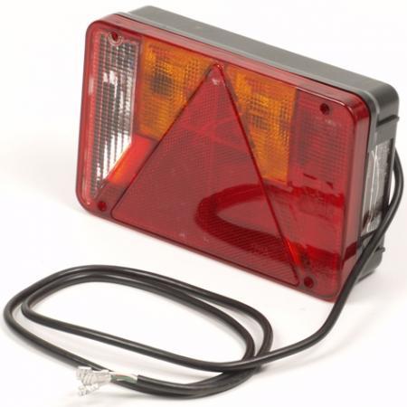 Aanhangwagen - Achterlicht Lampen: 3 x Bol 12V/21W1 x Bol 12V/21/5W (excl)