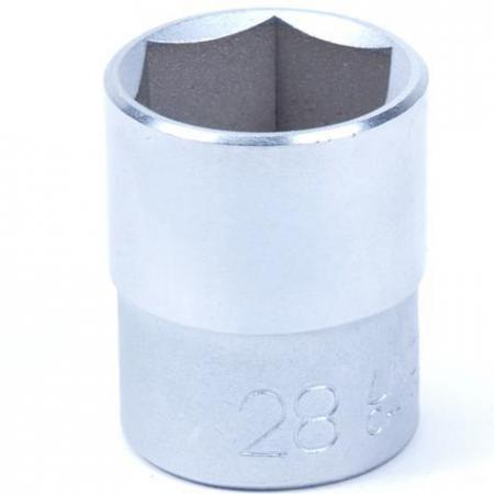 Dop los 1/2 inch maat 28 mm Materiaal: CR-V staal