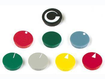 LID FOR 28mm BUTTON (GREEN - WHITE ARROW) Lid for 28mm button (green - white arrow)