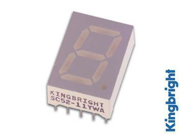 1-DIGIT DISPLAY 13mm GEMEENSCHAPPELIJKE ANODE SUPERROOD 1-digit display 13mm gemeenschappelijke anode superrood