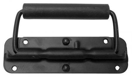 Image of Handvat Voor Luidspreker, Met Veer, Zwart Metaal, 140 X 40mm