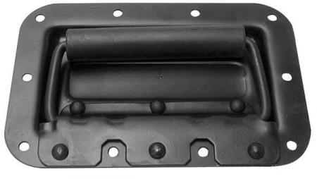 Image of HANDVAT VOOR LUIDSPREKER, MET VEER, ZWART METAAL, 161 x 107mm - HQ-Pow