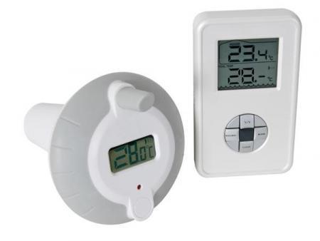 DRAADLOZE THERMOMETER VOOR ZWEMBAD/VIJVER Draadloze thermometer voor zwembad/vijver