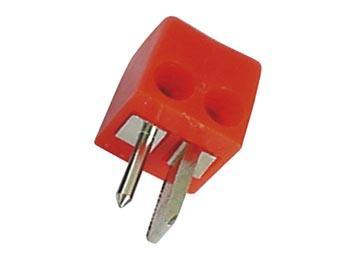 Image of 2P AUTOPLUG, VIERKANT, ROOD - HQ Products