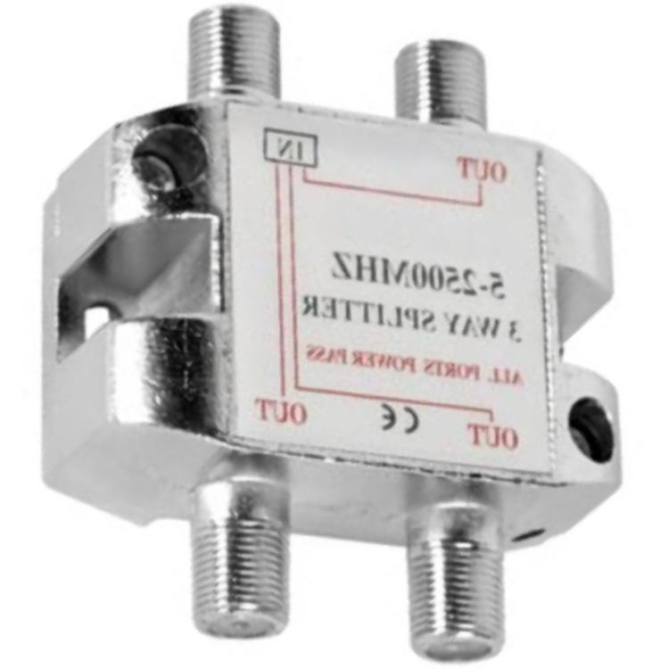 DRIEWEG SPLITTER 5-2500MHz Uitgang: 3 x F-Connector Female