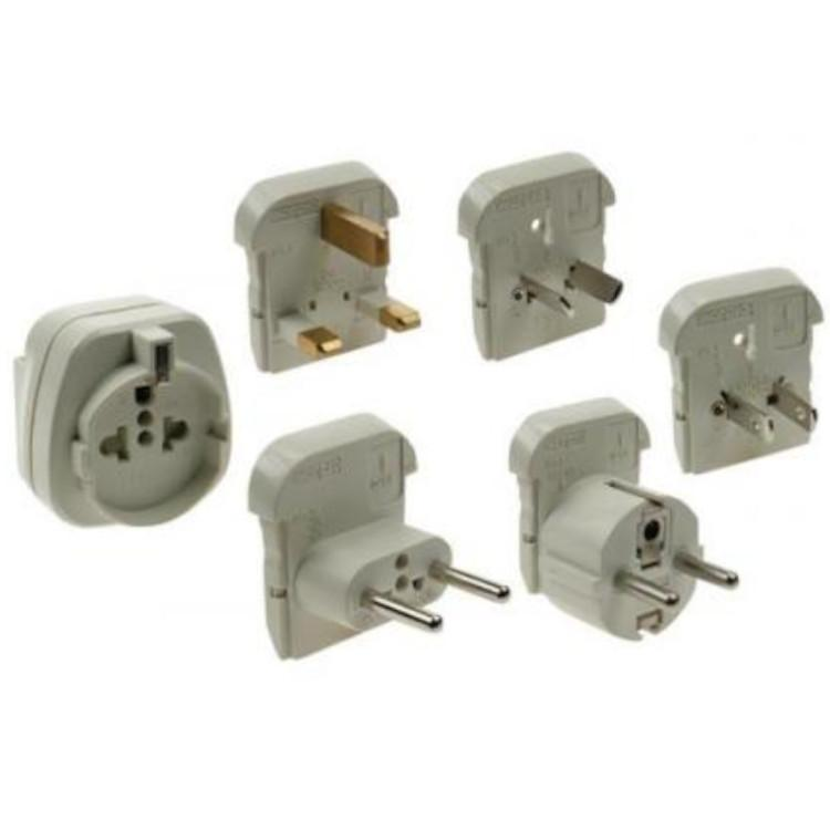 Universele Reisstekker Set Spanning/stroom: 240 Volt/16 Amp