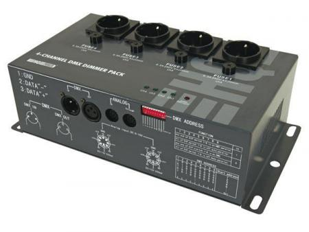 Image of 4-kanaals Dmx Dimmerpack (4 X 5a)