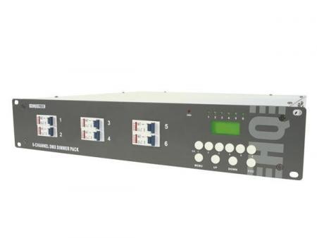 Image of 6-kanaals Dmx Dimmerpack (6 X 10a) Met Lcd