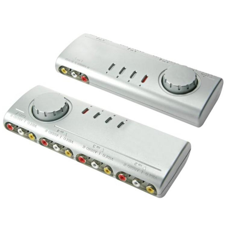 Audio-Video-Switch mit 4 Ports Velleman
