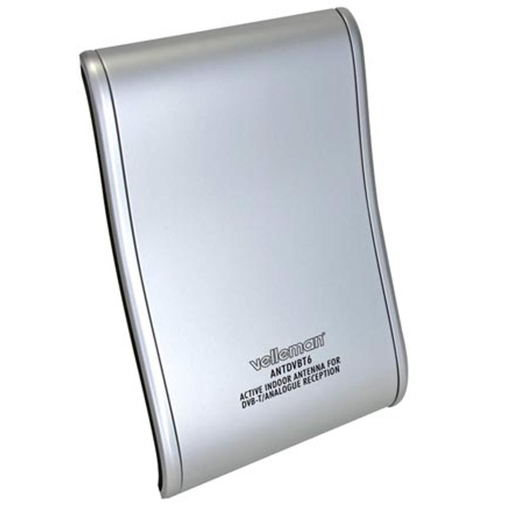 Actieve DVB-T Binnenantenne voor Radio/TV Kleur: zilver