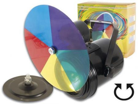 Image of HQ Power PAR36 pin spot + colour wheel + motor