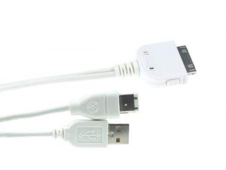 Image of Y-kabel - Dock Connector Naar Usb 2.0 + Firewire Voor Ipod