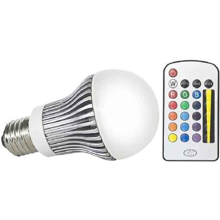 E27 Lamp - Power LED Lichtkleur: RGB