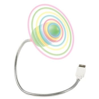 USB Ventilator Kleur: Zilver/Groen