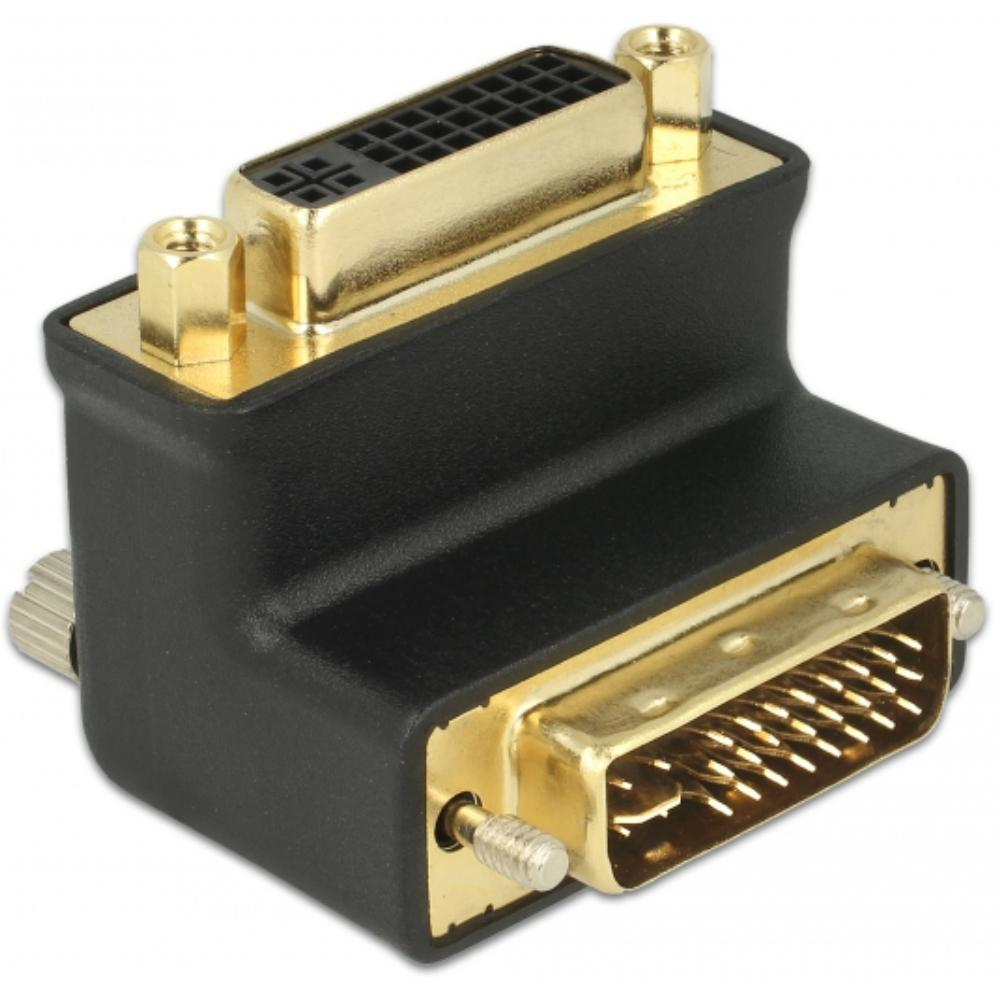 DVI - DVI 90° Adapter Verguld