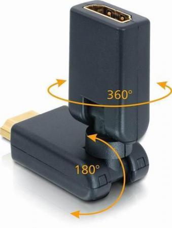HDMI HAAKSE VERLOOP 360° KNIKBAAR Verguld: Ja