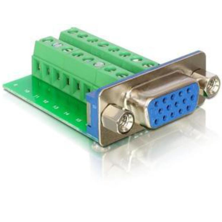 Terminalblock - 15 pin VGA poort Adapter Pitch 3,81