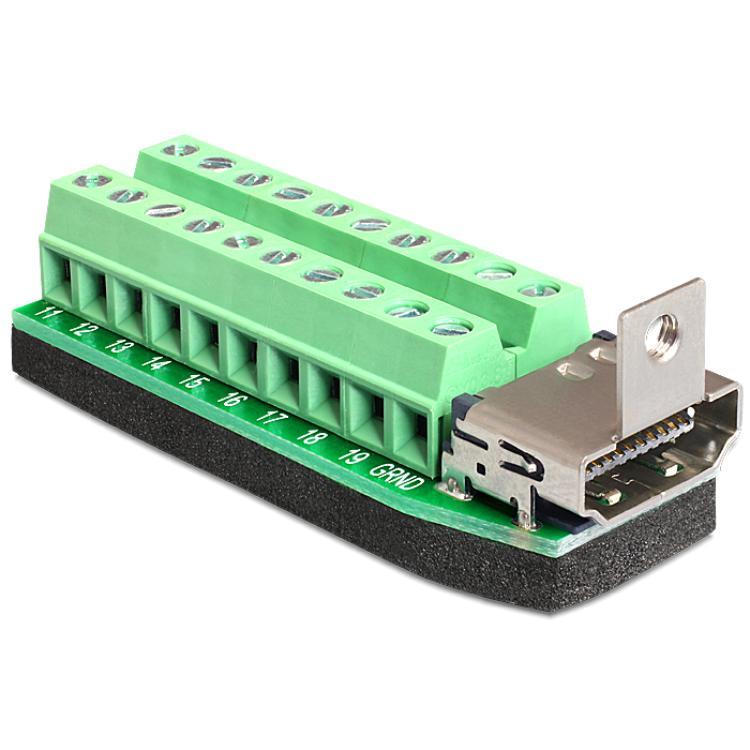 Adapter HDMI female - Terminal Block Deze terminal blok naar-HDMI-adap