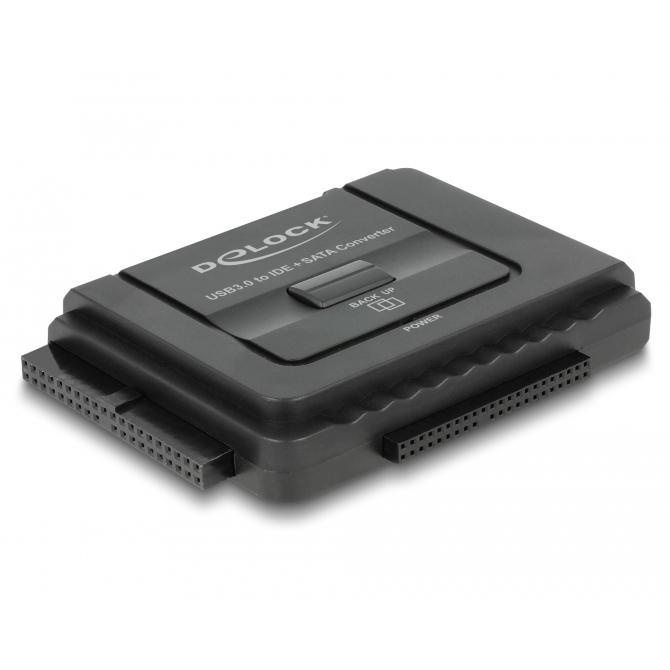 USB 2.0 naar IDE / SATA converter Incl. Externe voeding