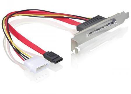 "PCI Bracket - 22p eSATAp Voeding: 4p Molex (5.25"" FDD)"