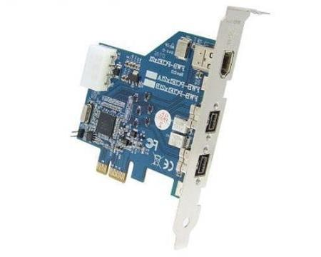 "PCI Express Kaart � 2x Firewire 800 + Firewire 400 Voeding: 4 polig IDE (5.25"" FDD)"