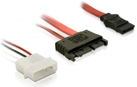 SATA kabel met voeding Kabellengte: 30 cm