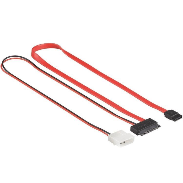 Micro SATA naar SATA met Molex voedingskabel Kabellengte: 30 cm
