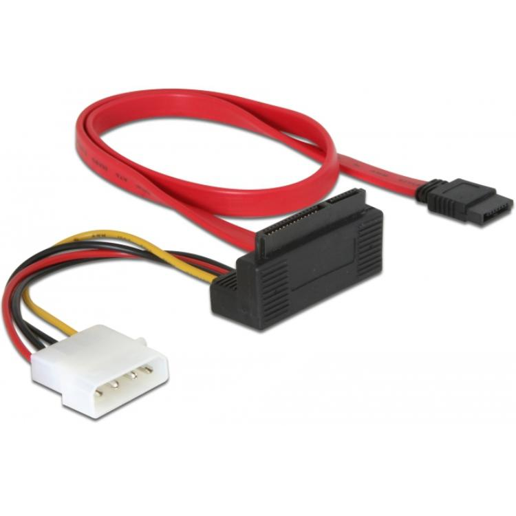 SATA kabel met voeding Aansluitingen: 4pin voeding, SATA kabel, Combo-connector