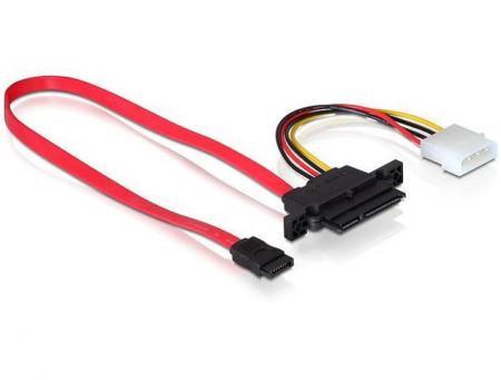 SATA alles in 1 kabel Kabellengte: Data 50 cm en Voeding 10 cm