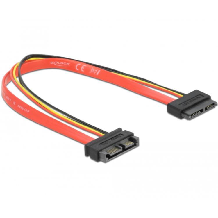 SATA kabel met voeding Lengte: 30cm