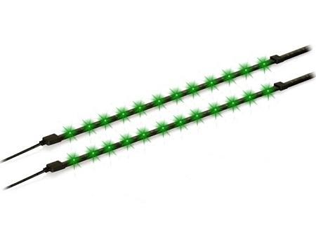 LED strips met voeding - Groen Per 2 strips geleverd