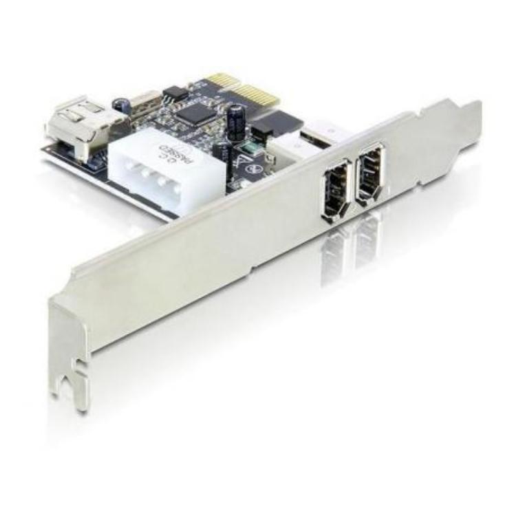 PCI Express Kaart - 2x Firewire 400 Voeding: 4-Polig Molex