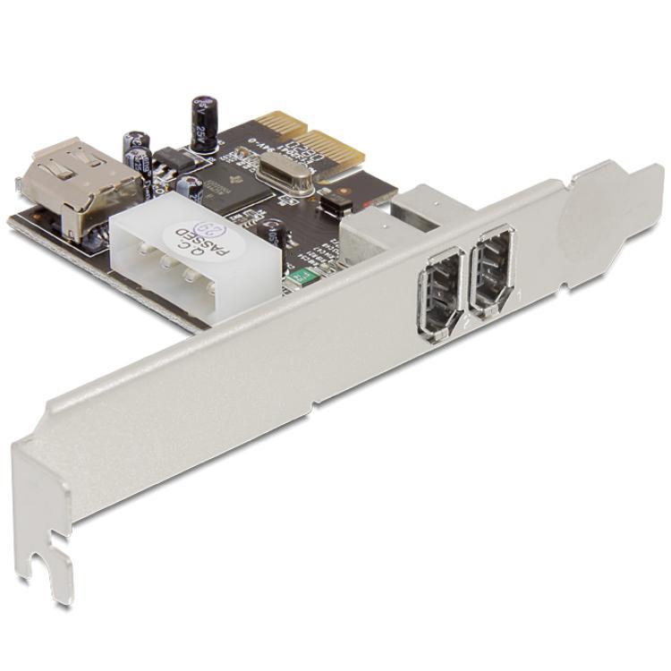 "PCI Express Kaart - 2x Firewire 400 Voeding: 4 polig IDE (5.25"" FDD)"