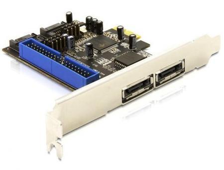 PCI Express Kaart - SATA + IDE/PATA Geschikt t/m: Windows 7, Linux