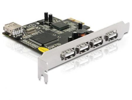 PCI express kaart  - USB 2.0 Geschikt t/m: Windows 8 x64, Linux