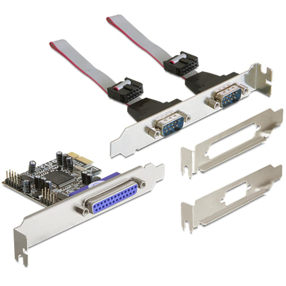 PCI Express Kaart - 2x Serieel + Parallel