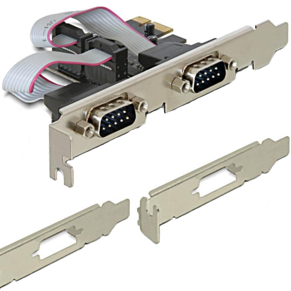 PCI Express Kaart - 2x Serieel Voeding: n.v.t