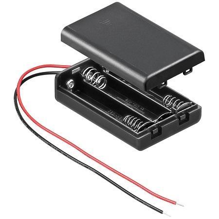 Image of 3x AAA batterij houder - Goobay