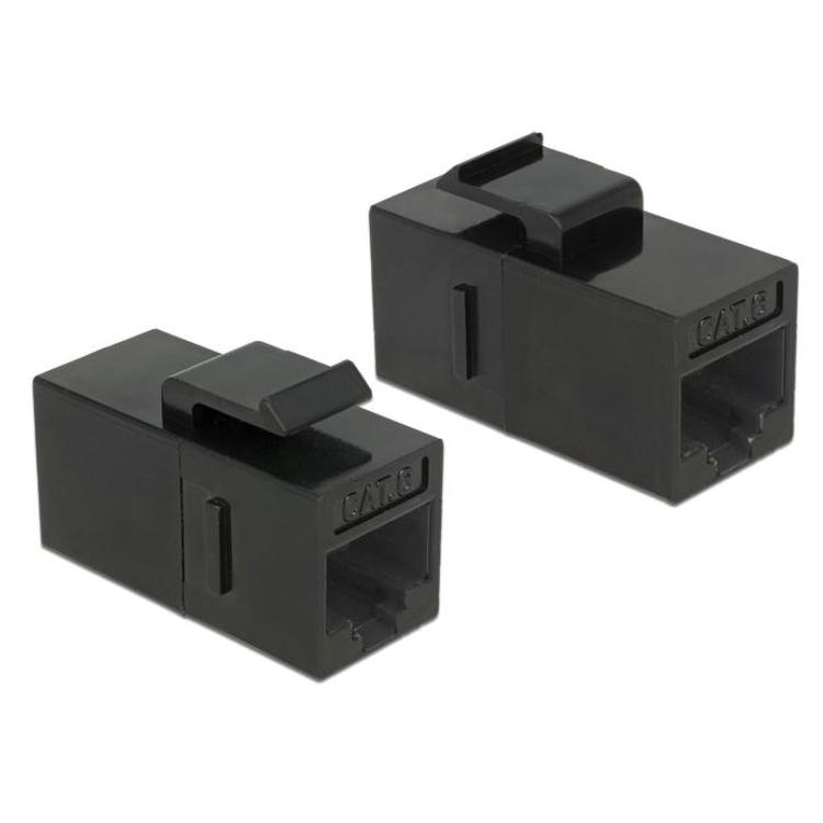 Netwerk Koppelstuk CAT6 RJ45 Snap-in mounting (Keystone)