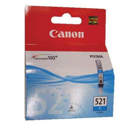 CLI-521C INKTCARTRIDGE CYAAN 9ML. -CANON- Originele cartridge voor Canon Pixma iP3600, iP4600, iP4600X, MP540, MP620, MP630, MP980, MX860 e.a