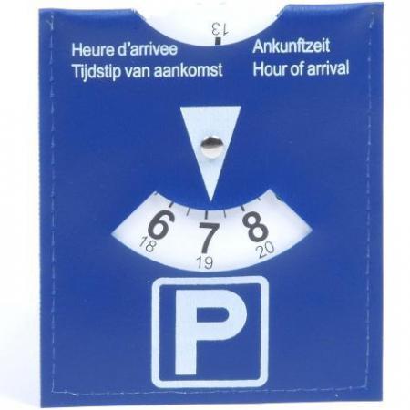 Parkeerschijf Duidelijke parkeerschijf. Verplicht in veel binnensteden