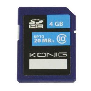 SD geheugenkaart - 4 GB Opslagcapaciteit: 4 GB