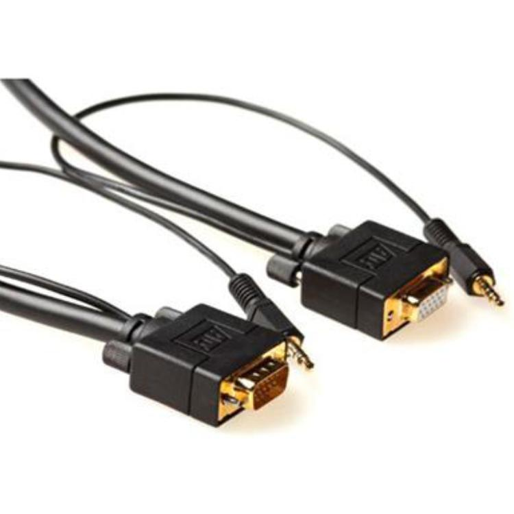 Monitor Verlengkabel met Audio aansluitkabel 2 meter