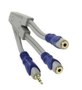 Jack - Y kabel Lengte: 0.2 meter