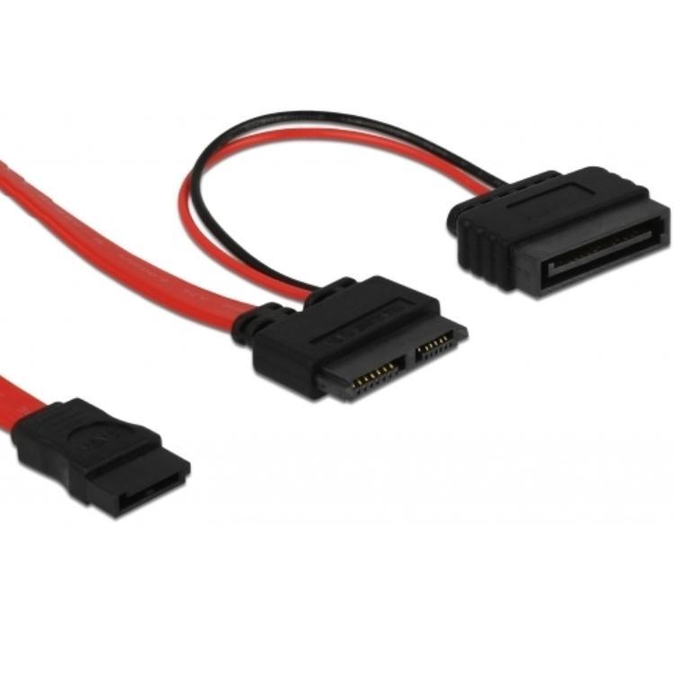 Slim SATA naar SATA kabel 0.3 meter